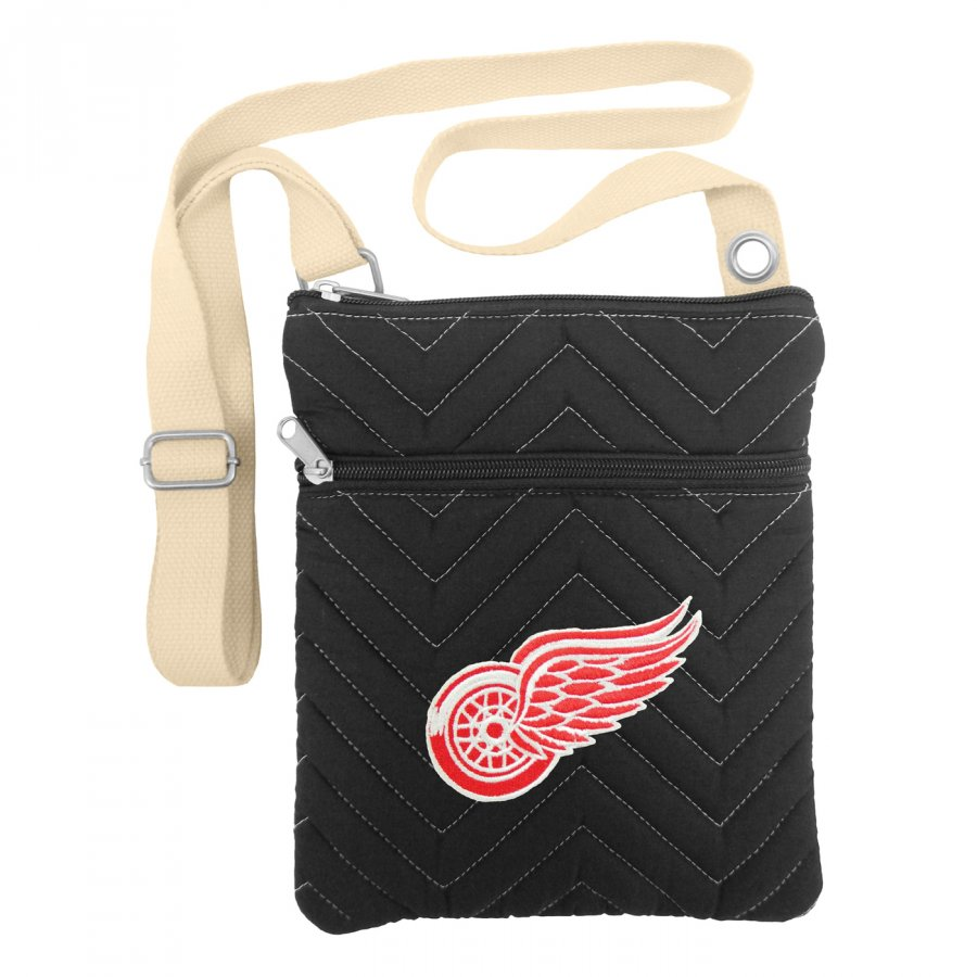 Detroit Red Wings Chevron Stitch Crossbody Bag