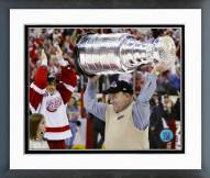 Detroit Red Wings Scotty Bowman with Stanley Cup Framed Photo