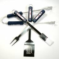 Detroit Tigers 4-Piece Stainless Steel BBQ Set