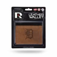 Detroit Tigers Brown Leather Trifold Wallet