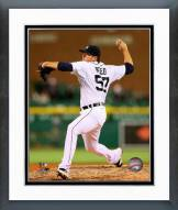 Detroit Tigers Evan Reed 2014 Action Framed Photo