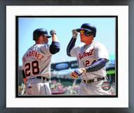 Detroit Tigers J.D. Martinez & Miguel Cabrera 2015 Action Framed Photo