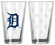 Detroit Tigers Satin Etch Pint Glass - Set of 2