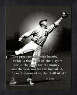 Detroit Tigers Ty Cobb Baseball Framed Pro Quote