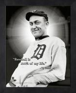 Detroit Tigers Ty Cobb MLB Framed Pro Quote