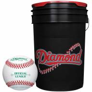 Diamond 6 Gallon Ball Bucket with 30 ODB Baseballs