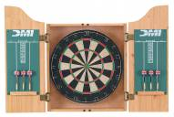 DMI Deluxe Light Oak Dartboard Cabinet Set
