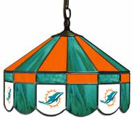 "Miami Dolphins NFL Team 16"" Diameter Stained Glass Pub Light"