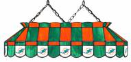 "Miami Dolphins NFL Team 40"" Rectangular Stained Glass Shade"