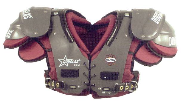 Douglas Nitro NP 25 Series Adult Football Shoulder Pads - RB / DB / QB