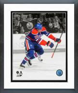 Edmonton Oilers Leon Draisaitl 2014-15 Spotlight Action Framed Photo