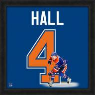 Edmonton Oilers Taylor Hall Uniframe Framed Jersey Photo