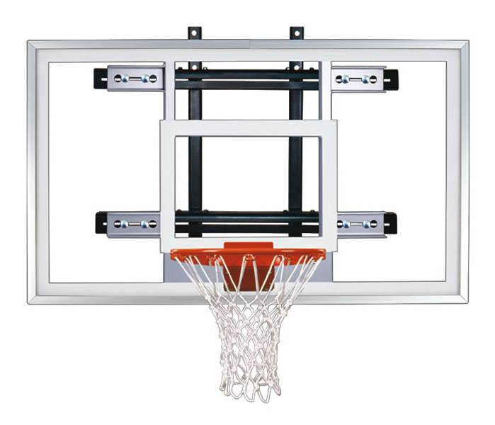 The First Team POWERMOUNT PRO Stationary Wall Mount Basketball Hoop is  designed especially for gyms that want to squeeze a shooting station in a  tight spot. - First Team POWERMOUNT PRO Stationary Wall Mount Basketball Hoop