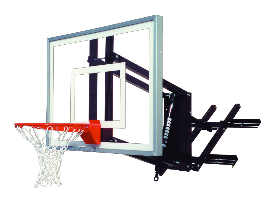 First Team ROOFMASTER II Wall / Roof Mounted Adjustable Basketball Hoop    Free Shipping