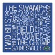 "Florida Gators 18"" x 18"" Canvas Subway Art"