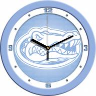Florida Gators Baby Blue Wall Clock