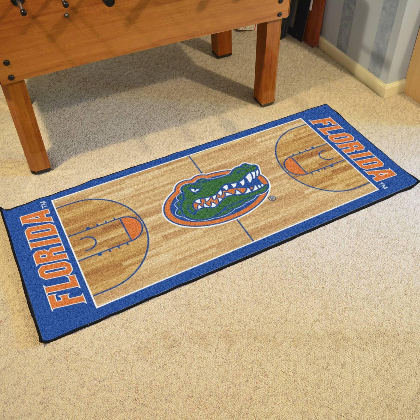 florida gators basketball court runner rug