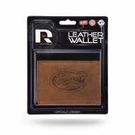 Florida Gators Brown Leather Trifold Wallet