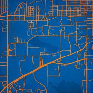 Florida Gators Campus Map Print