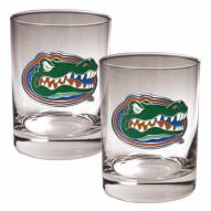 Florida Gators College 2-Piece 14 Oz. Rocks Glass Set