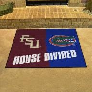 Florida Gators/Florida State Seminoles House Divided Mat