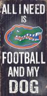 Florida Gators Football & Dog Wood Sign