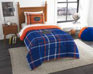 Florida Gators Plaid Twin Comforter Set