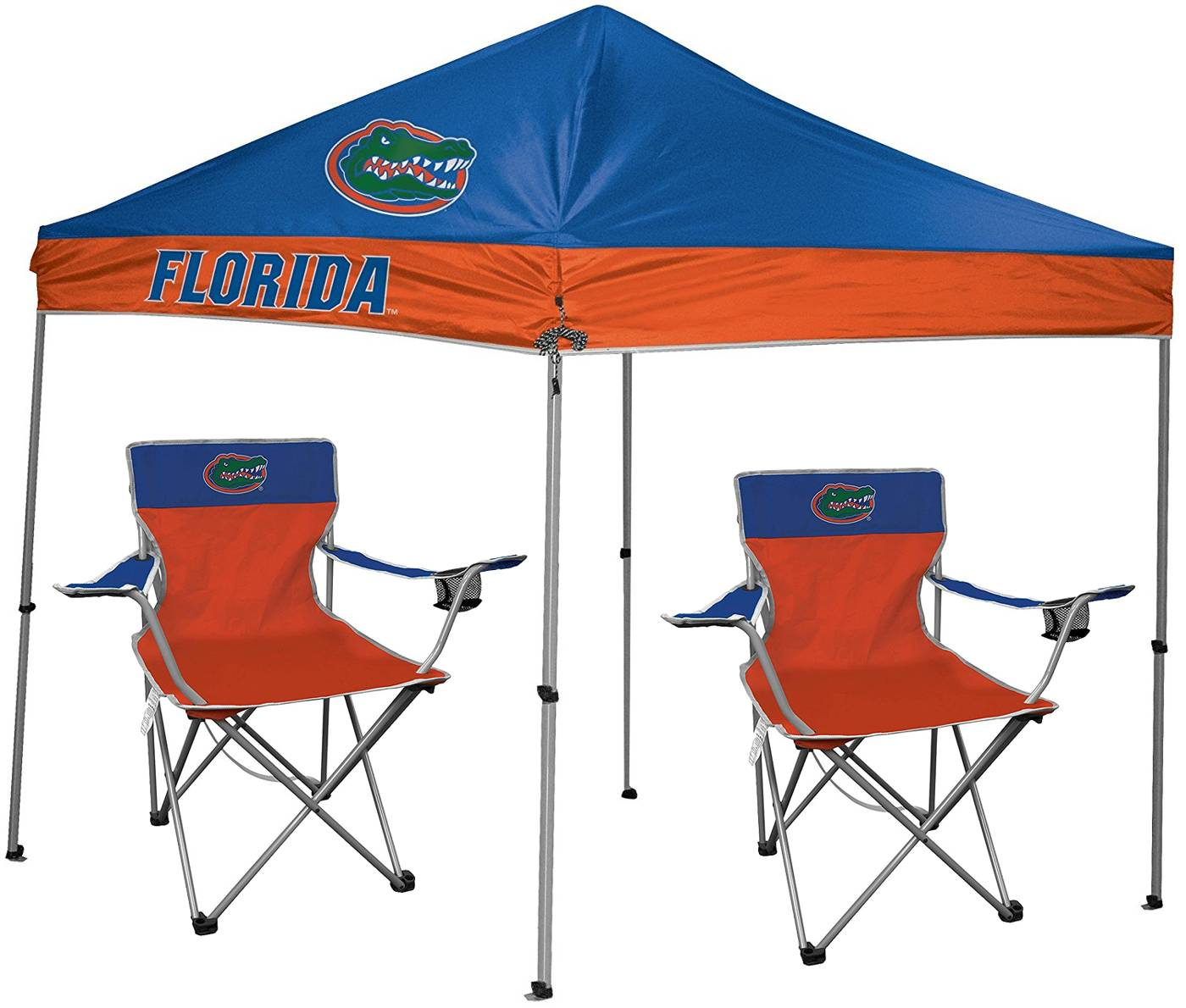 The Florida Gators Rawlings Canopy Tent u0026 Chair Set is the perfect starter set to host your first tailgate! Included in this package is a 9u0027 x 9u0027 canopy ...  sc 1 st  Sports Unlimited & Florida Gators Rawlings Canopy Tent u0026 Chair Set