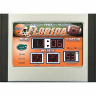 Florida Gators Scoreboard Desk Clock