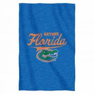 Florida Gators Script Sweatshirt Throw Blanket