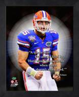 Florida Gators Tim Tebow Framed Pro Quote