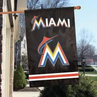 Miami Marlins Appliqué 2-Sided Banner Flag