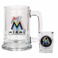 Florida Marlins MLB Boilermaker Set - Shot Glass & Tankard Mug