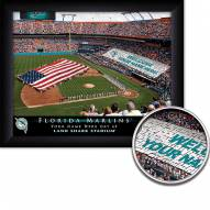 Florida Marlins Personalized Framed Stadium Print