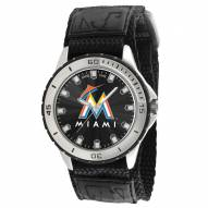 Miami Marlins Veteran Velcro Mens Watch