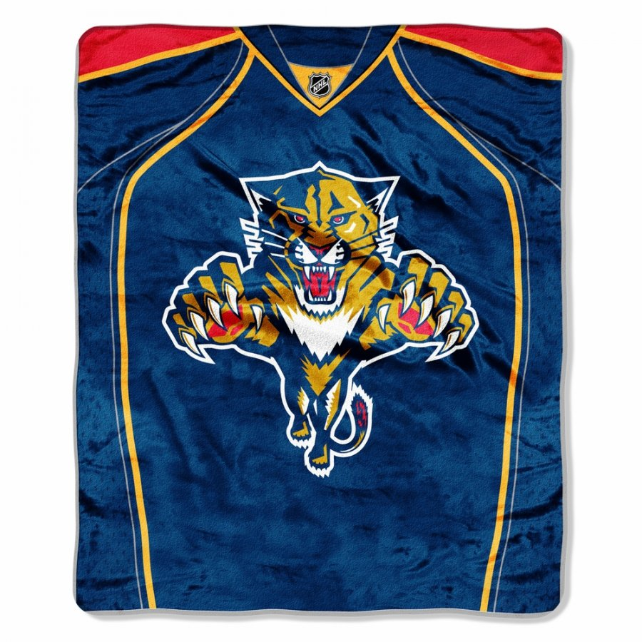 Florida Panthers Jersey Raschel Throw Blanket