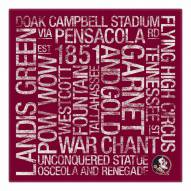 "Florida State Seminoles 18"" x 18"" Canvas Subway Art"