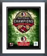 Florida State Seminoles 2014 National Champions Team Logo Framed Photo