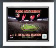 Florida State Seminoles 3 Time National Champions Framed Photo