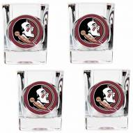 Florida State Seminoles 4 Piece Square Shot Glasses