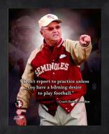 Florida State Seminoles Bobby Bowden NCAA Framed Pro Quote