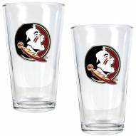 Florida State Seminoles College 16 Oz. Pint Glass 2-Piece Set