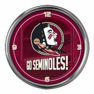 Florida State Seminoles Go Team Chrome Clock