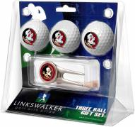Florida State Seminoles Golf Ball Gift Pack with Cap Tool