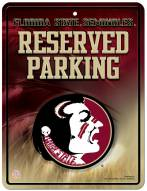 Florida State Seminoles Metal Parking Sign