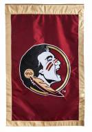 """Florida State Seminoles 28"""" x 44"""" Double Sided Applique Flag"""