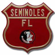 Florida State Seminoles NCAA Embossed Route Sign