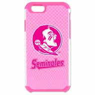 Florida State Seminoles Pink Pebble Grain iPhone 6/6s Plus Case