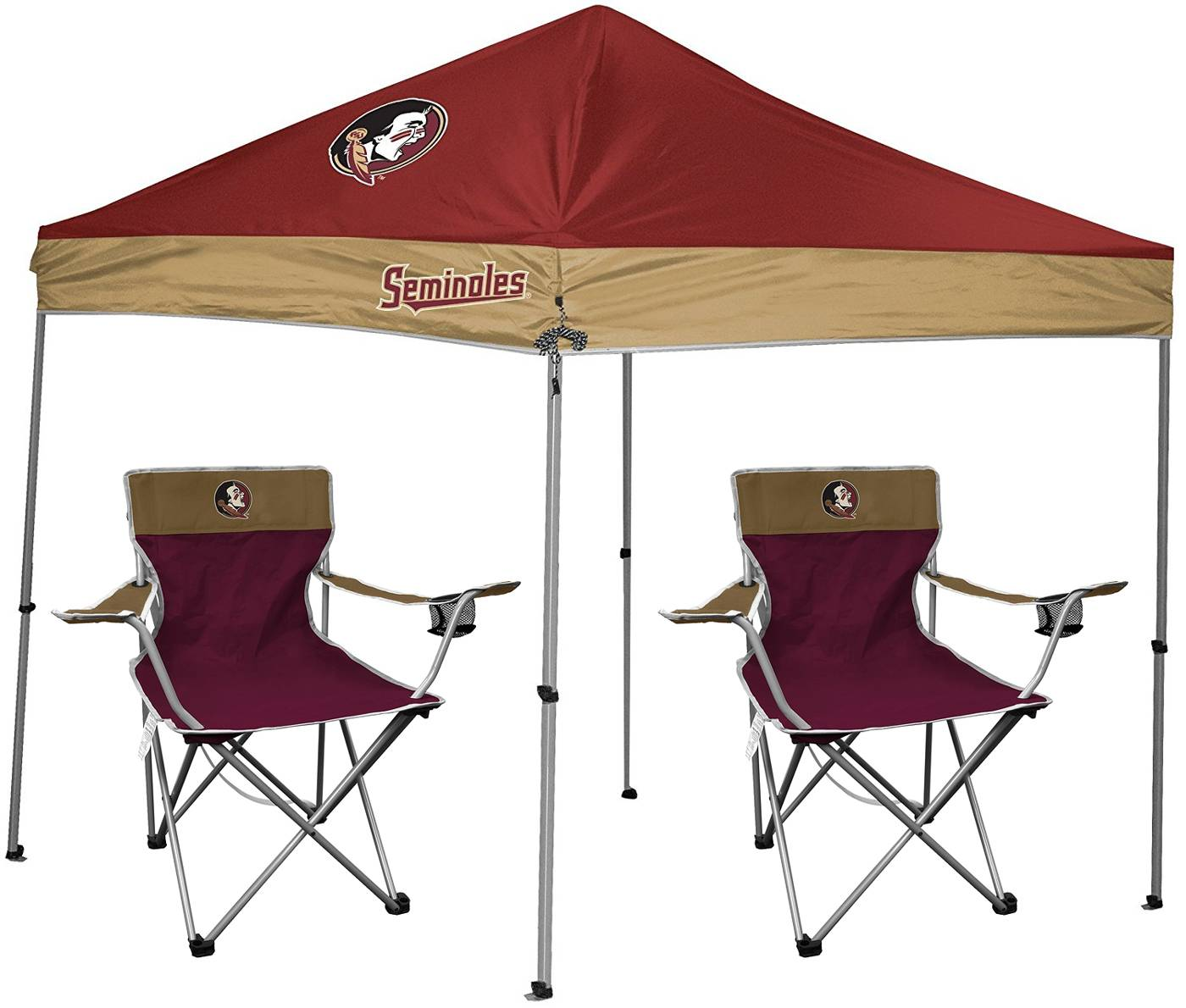 The Florida State Seminoles Rawlings Canopy Tent u0026 Chair Set is the perfect starter set to host your first tailgate! Included in this package is a 9u0027 x 9u0027 ...  sc 1 st  Sports Unlimited & Florida State Seminoles Rawlings Canopy Tent u0026 Chair Set