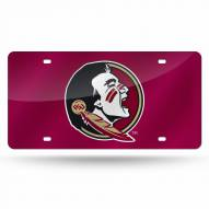 Florida State Seminoles Red Laser Cut License Plate
